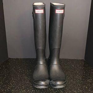 Hunter Black Tall Rain Boots